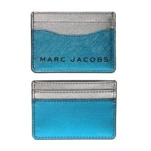 NWT Marc Jacobs Metallic Leather Card Case